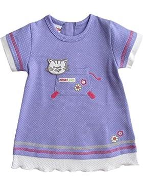 Schnizler Mädchen Kleid Interlock Crazy Cat Gepunktet
