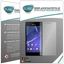 "2 x Slabo protector de pantalla Sony Xperia M2 lámina protectora de pantalla ""No Reflexion - No Reflexiones"" MATE suprime reflejos MADE IN GERMANY"
