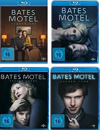 Bates Motel - Season One, Two, Three & Four im Set - Deutsche Originalware [9 Blu-rays] (3 Motel Staffel Bates)