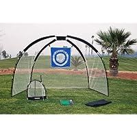 7.6cm 1 Golf Practise Set Mat Driving Net Chipping Net and Bag