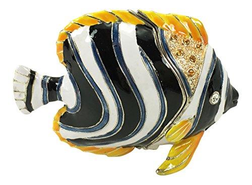 Kubla Craft Zwergkaiserfisch Schmuckkästchen, Kristallen, 5,7cm W -