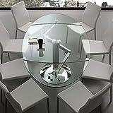 NOUVOMEUBLE Tisch aus Glas, ausziehbar, Design Bonito