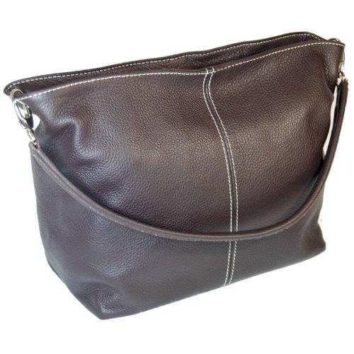 DELARA Shopper Leder, Farbe: Braun dunkelbraun