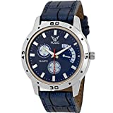 Fogg Analog Blue Dial Men's Watch 1092-BL