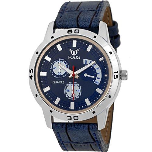 Fogg Analog Blue Dial Men's Watch 1092-BL image - Kerala Online Shopping