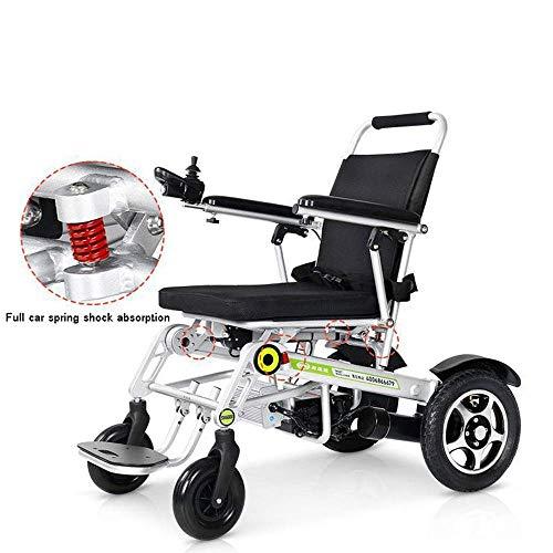 AYHa Lite Aluminium Rollstuhl 2019 Upgrade Remote Elektrorollstuhl Auto Weisheit Ältere Behinderte Roller Klapp Licht Tragegurt, Kann 150Kg Tragen -