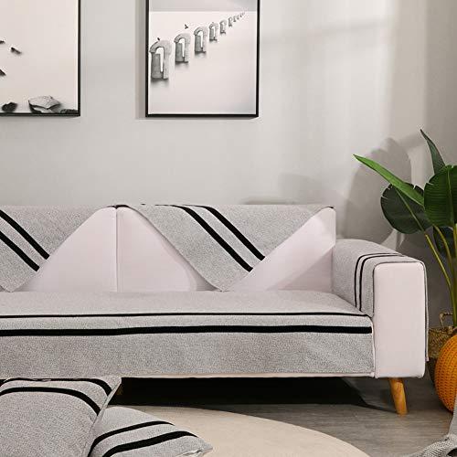 Zzy Baumwoll Sofa matten Sofa Cover Sofa Schild Gesteppte sektionaltore Waschbare Sofa Kissen Slip Handtuch Couch abdeckungen Home armlehne Cover-1 stück-J 70x150cm(28x59inch)