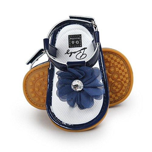 Bebé Azul Sapatos Macios Menina Bebê Berço Sandálias Flores Infantil Coolster Primeiros Única Caminhantes dfRw7dq