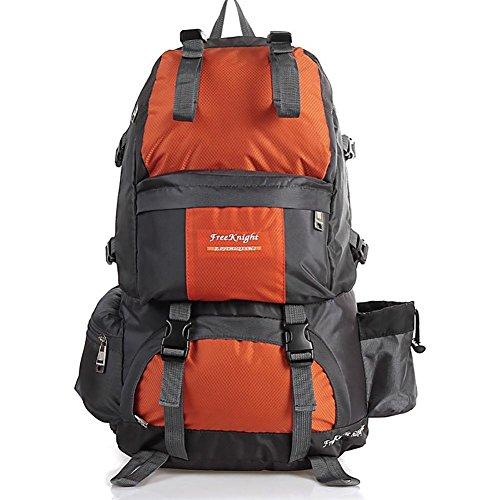 Wanderrucksack 50L Wasserdichtes Sporttasche Big Outdoor-Kapazität Taschen Bergsteigen Jagd Travel Rucksäcke 12