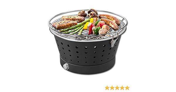 Holzkohlegrill BBQ Tischgrill Grill Balkongrill Rauchfrei Räucherofen Barbecue
