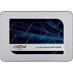 Crucial CT250MX500SSD1 SSD interne MX500 (250Go, 3D NAND, SATA, 2,5 pouces)