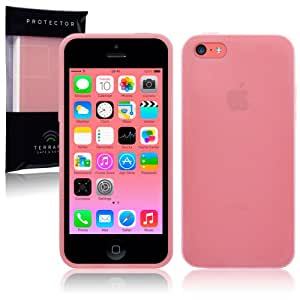 iPhone 5C Frosted TPU Gel Skin Case / Cover - Pink