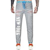 Cebbay Pantalones de Hombre Pantalones Sueltos Sueltos de impresión de chándal campeones Pantalones de