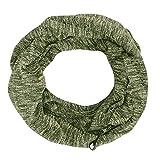 GreatestPAK Loop Schal Einfarbig Warmer Schal Double-Loop Schal mit praktischer Zip-Tasche,Grün