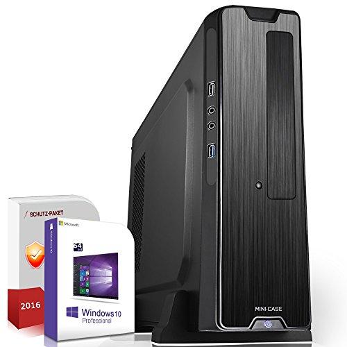 Preisvergleich Produktbild Mini PC Office / Multimedia / Windows 10 Pro 64-Bit / Quad-Core Intel J1900 4x2, 4GHz Turbo / 4GB DDR3 RAM / 500GB HDD / Intel HD Graphics / USB 3.0 / HDMI / mit 3 Jahren Garantie