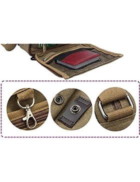 Sharplace Herren Retro Vintage Schultertasche Segeltuch Umhängetasche Unisex Crossbody Bag
