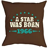 Kissen zum Geburtstag - A Star was Born 1966 - Dekokissen, Sitzkissen mit Füllung