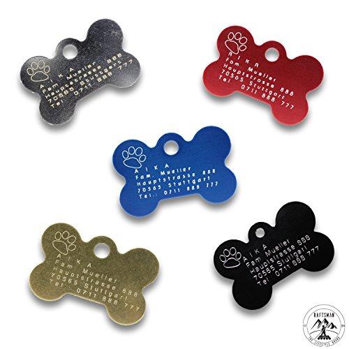Preisvergleich Produktbild Hundemarke mit Gravur - ID Tag - Adressanhänger - Adressschild - Individuelle - Personalisiert - Diamantgravur