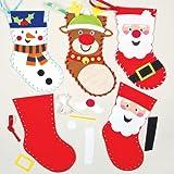 Calze in feltro natalizio da cucire per bambini (confezione da 3)