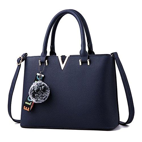 GUANGMING77 _ Borsa Borse Lettera Bag,Grigio Royal Blue