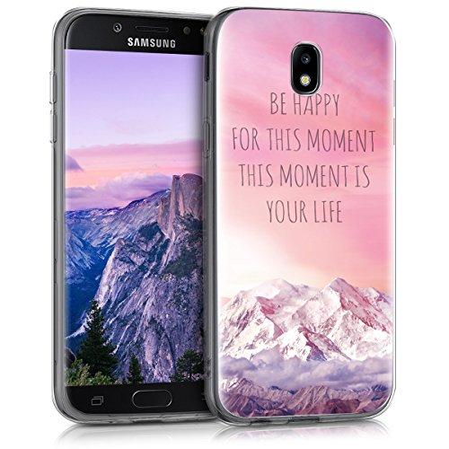 kwmobile Samsung Galaxy J5 (2017) DUOS Hülle - Handyhülle für Samsung Galaxy J5 (2017) DUOS - Handy Case in Rosa Violett Koralle