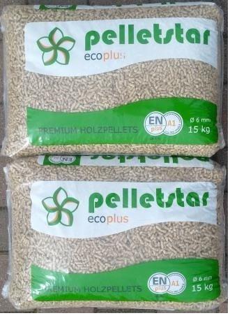 Preisvergleich Produktbild 30 kg Pellets Sackware Holzpellets Heizpellets DIN Plus A1 EN Plus