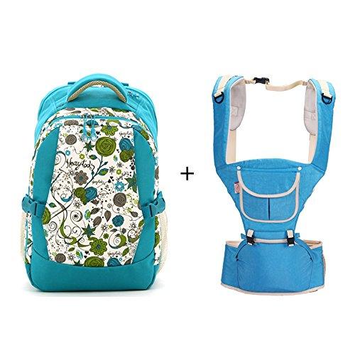 Multifunktionale Großraum-Mama-Tasche, Schultern aus dem Paket, Mutter-Paket, Mode Mutter Tasche, Mutter Baby-Tasche ( Farbe : Rose red ) Blau