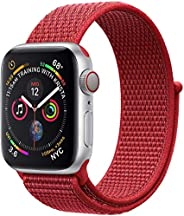 MARGOUN Nylon Sport Band for Apple Watch 44mm 42mm, Soft Replacement Strap for iWatch Series 6/ SE/ 5/4/3/2/1