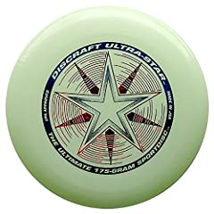 Idea Regalo - Discraft USSN UltraStar 175 Frisbee, Incandescento di Notte