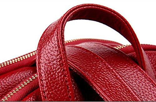 Sacchetto Di Spalla Di Personalità Selvatico Dello Zaino Di Tendenza Coreano Di Modo Femminile Red