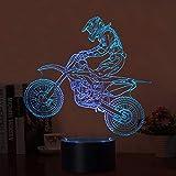 La 3D Motorcycle Illusion 2018 New Cross-country Motorcycle Lamp è una combinazione di arte e tecnologia che crea un'illusione ottica 3D.   1. Risparmio energetico. Spesa di energia: 0,012 kW / 24 ore; Durata della vita dei LED: 10000 ore.  2.7 Cambi...