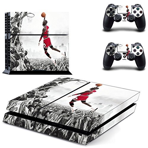 PS4 Art Michael Jordan Legend Dunk Basketball Waterproof Vinyl Skin Decal Cover for Playstation 4 System Console and Controllers by FocusSkins (Michael Jordan Decal)