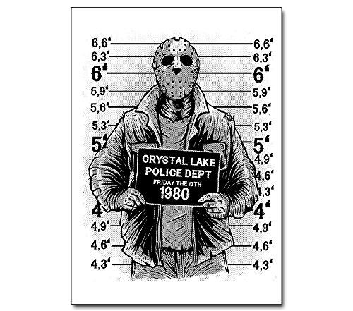 Jason mit Maske - Poster - Freitag der 13. --- Horror Film Voorhees Halloween Plakat