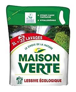 Maison verte recharge lessive ecologique 2 l hygi ne et soins du - Maison verte lessive ...