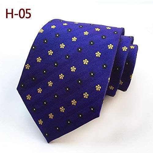 FDHFC Cravates pour Hommes 8 Cm Blue Wine Brown Cravate À Rayures Violettes Cravate Jaune Cravate Rouge pour Mariage