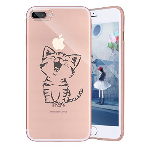 Custodia iPhone 6S, Cover iPhone 6, TPU Silicone Cover Custodia per iPhone 6S / 6 Apple, Surakey Cellulari Accessori TPU Case Ultra Sottile iPhone 6S Cover Trasparente Gatto Ragazza Dinosauro Colorato Gatto Cute