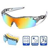 Polarisierter Sport Sonnenbrille für Herren und Damen Fahren Golf Laufen Radsport Superleichtes Rahmen (Grau/Grau)