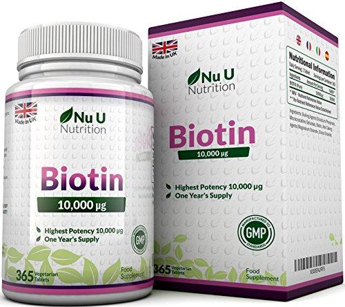 Biotin hochdosiert für Haar-Wachstum, kräftige Nägel & gesunde Haut