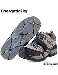 Schneeketten für Schuhe Steigeisen spikes, Kieselgel Anti Rutsch Sohlen/Schuhkrallen,Unisex - Erwachsene Traktion Stollen - By EnergeticSky™