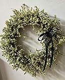 Yirenfeng Piccola Ghirlanda Fresca Fiore Secco Fiore di Cristallo Gambo Albero Rattan Anello Muro Finestra Ornamento di Fiori Secchi B