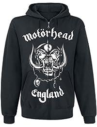Motörhead England Sudadera capucha con cremallera Negro