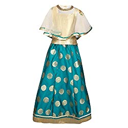 Arshia Fashions Girls Lehenga Choli Dress for Kids - Party wear - Readymade - With Poncho