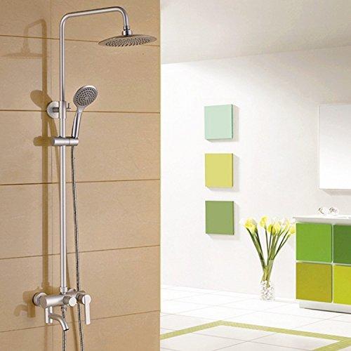 HJ Set doccia doccia multifunzionale a parete doccia spazio ossido di alluminio set doccia