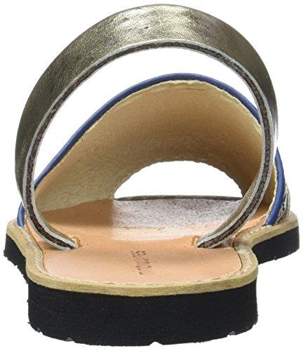 Minorquines Avarca, Scarpe Col Tacco con Cinturino a T Donna Blu (Bleu)