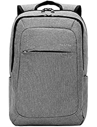 SLOTRA Slim Laptop Backpack, Business Lightweight Nylon Water Resistant Multipurpose Shoulder Notebook Backpack up to 15.6 inch, Anti-Theft, Light Grey