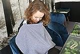 ZELLMOPS Stilltuch 'Ahoi' blau weiß gestreift, super weicher Still-Sichtschutz, Basic Size, mit eingenähter Tasche, Handarbeit aus Deutschland