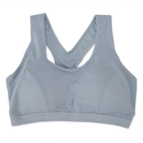 Les femmes exécutant Yoga sport soutien-gorge de sport Running Sous-vêtements Sous-vêtements soutien-gorge de sport pour femmes exécutant des jantes Gilet Petit Sommeil Yoga Gray