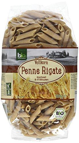 biozentrale Vollkorn Penne Rigate Bio, 6er Pack (6 x 500 g)