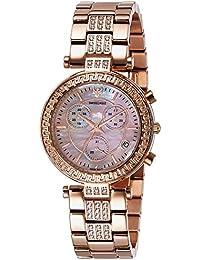 Swiss Eagle Analog Rose Gold Dial Women's Watch-SE-9095B-RG-08