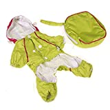 Hawkimin Haustier Hundregenmantel Doppelschicht aus PVC Regenmantel Verdicktes Netz Nylon Wasserdicht Mantel Hemd Welpen Hunde Kostüm